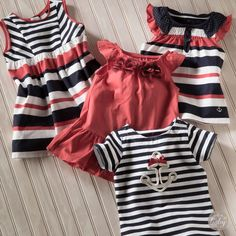 Red white and sweetness - darling little girl dresses, tops, leggings and outfits from HallmarkBaby.com