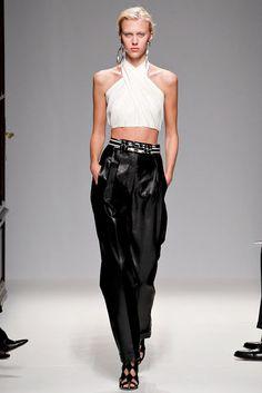 Balmain black and white dress