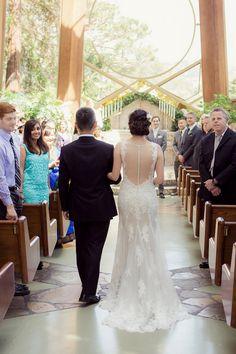 Romantic Wedding In A Tree Chapel Overlooking The Ocean