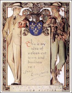 Братья Joseph Christian Leyendecker и Francis Xavier Leyendecker (592 работ)