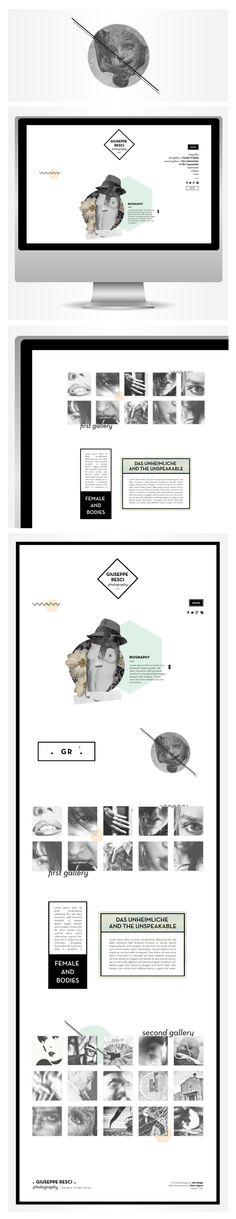 Giuseppe Resci Website by Sara Viscione, via Behance