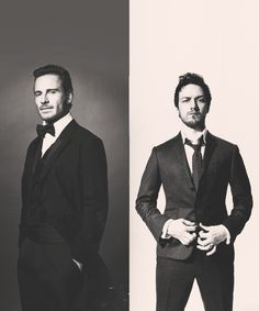 Michael Fassbender and James McAvoy. Tete-a-tete for 3...I think there is another word for that..........
