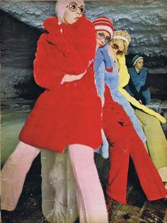 Editorial by Caroline Baker for Nova, February 1969.  #sunglasses