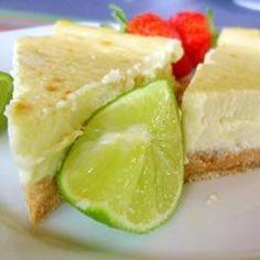 Gâteau au fromage à la lime de Key @ qc.allrecipes.ca