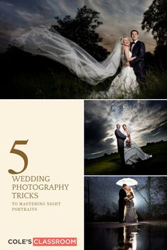 Wedding Photography Tips: 5 Wedding Photography Tricks to Mastering Night Portraits. Using these tools can help you quickly capture the best images possible. Learn more at: https://www.colesclassroom.com/fastest-way-improve-photography-project-365/
