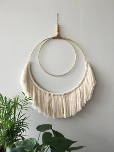 Woven fringe wall hanging Macrame tapestry Textile wall art