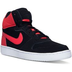Nike Men's Recreation Mid Casual Sneakers from Finish Line ($75) ❤ liked on Polyvore featuring men's fashion, men's shoes, men's sneakers, nike mens sneakers, mens shoes, mens sneakers and nike mens shoes