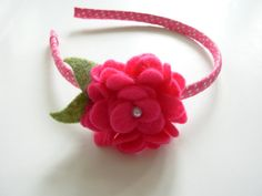 Really cute felt flower headband