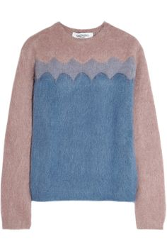Valentino - Color-block knitted sweater 6fd9ab178d
