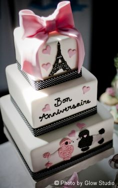 Pink and chocolate brown all occasion cakes. Any of them would be great for a wedding, birthday party,anniversary, or going away party. Paris Themed Cakes, Paris Cakes, Cupcakes, Cupcake Cakes, Parisian Cake, Parisian Party, Beautiful Cakes, Amazing Cakes, Bolo Paris
