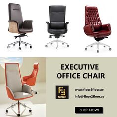 Enjoy the luxurious comfort of executive office chairs from Floor 2 Floor Office Furniture. Stylish executive chair made with ergonomic features. Luxury Office Chairs, Office Chairs Online, Executive Office Chairs, Luxury Furniture, Office Furniture, High Back Chairs, Dubai Uae, Black And White Colour, 2nd Floor