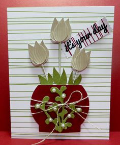 Stampin' Up Mistletoe & Holly November 2015 Paper Pumpkin Kit Alternate Card created by Lynn Gauthier. Go to http://lynnslocker.blogspot.com/2015/12/stampin-up-mistletoe-holly-paper_2.html for more details on this project.