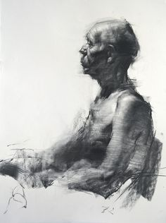 Figure #D02, Charcoal drawing by Zin Lim | Artfinder