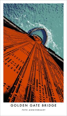 Le 75e anniversaire du Golden Bidges par Goodby Silverstein & Partners - Affiche