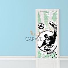Παιδικό Αυτοκόλλητο Πόρτας ποδοσφαιριστής Decals, Home Decor, Tags, Decoration Home, Room Decor, Sticker, Decal, Home Interior Design, Home Decoration