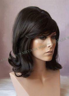 60 s Style Flick Back Beehive Drag/Fun U Choose Color wig/wigs