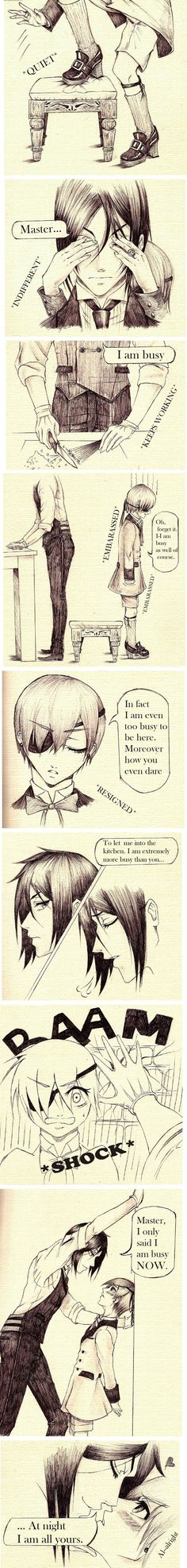 Sebastian x Ciel: You always surprise me by SebbyxCiel03.deviantart.com on @deviantART THIS IS THE MOST PERFECT THING IN THE WHOLE FLIPPING WORLD!!!!