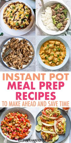 This collection of 30 tasty Instant Pot Meal Prep recipes can help you save time, money, and reduce stress! Whether you're new to the world of meal prep or a seasoned pro, you will love these Instant Pot Meal Prep Recipes. Includes breakfasts, sides, hearty main dishes, dinner, soups, salads & stews, chicken recipesm ground beef recipes etc. Click through to get these awesome Pressure Cooker Meal Prep Recipes!! #instantpot #instantpotmealprep #mealprep #mealpreprecipes #pressurecooker… Supper Recipes, Lunch Recipes, Beef Recipes, Chicken Recipes, Instant Pot Chicken Thighs Recipe, Best Instant Pot Recipe, Pressure Cooker Chicken, Pressure Cooker Recipes, Potted Beef Recipe