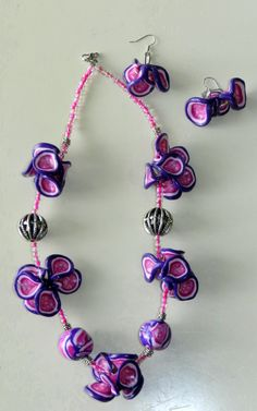 Paars/rose plakjesketting
