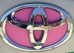 Toyota Prius Pink Carbon Fiber Emblem Insert Decal Blue Heat JDM 2010 2011 2012 | eBay