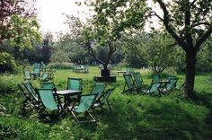 peaceful english orchard - granchester, cambridgeshire