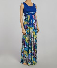 Another great find on #zulily! Royal Brushstroke Maternity Maxi Dress #zulilyfinds