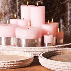 Zo mooi die roze kaarsen van PTMD!