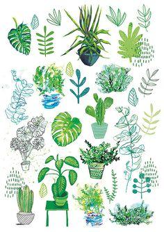 All My Plants Archival Art Print