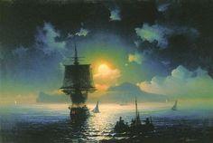 Lunar night on Capri - Iván Aivazovski