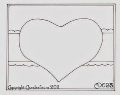 Claralesfleurs - Sketch de carte CD028