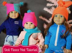 Fleece Hat Tutorial for American Girl