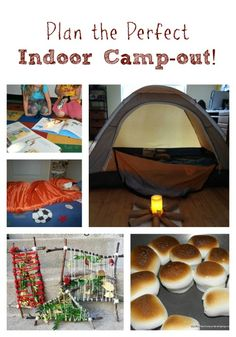 Great ideas for outdoor or indoor camping ideas for kids: Hosting an Indoor Camp-out with the Kids