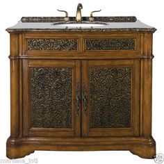 Solid Maple Vanity Cabinet Undermount Porcelain Sink w Granite Top New Free SHIP | eBay
