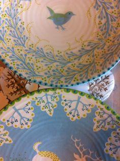 wren and deer platters by Katrin Moye Pottery Painting, Ceramic Painting, Ceramic Artists, Pottery Plates, Ceramic Pottery, Pottery Art, Pottery Ideas, Ceramic Shop, Ceramic Design