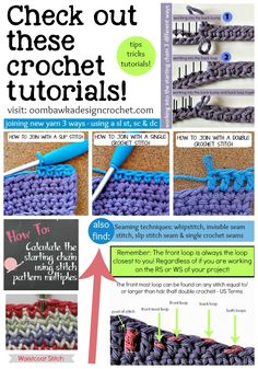 Free Crochet Tutorials! From novice to experienced, these tutorials will help you with your next winter project!