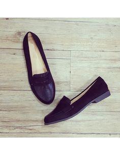 """Derbies """"Adèle"""" noir - Ballerines et mocassins - types de modèles - Chaussures femmes"""