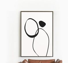 Modern Minimal Art Prints, Abstract Art Printable, Circles Art Prints, Black and White Art, Home Decor, Printable Instant Download, Ink Art