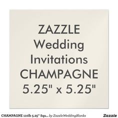 "CHAMPAGNE 110lb 5.25"" Square Wedding Invitations"