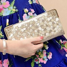 Girl Lady Women Faux Leather Clutch Wallet Long Card Holder Case Purse Hand Bag