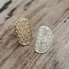 Flower of Life Ring by Glee Jewelry. Sacred Geometry in silver & gold
