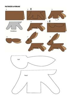 free printable template standing bunny - One Colorful Day - Easter Art, Easter Crafts For Kids, Diy For Kids, Easter Activities, Craft Activities, Diy Ostern, Printable Crafts, Free Printable, Bunny Crafts