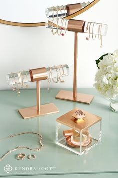 Home Decor Bathroom Jewelry Organizer Ideas: Keep your jewels organized in style! A perfect addition to any dresser or vanity, this Small T-Bar Jewelry Stand in Antique Silver is a beautiful way to display your favorite Kendra Scott necklaces. Jewellery Shop Design, Jewellery Storage, Jewelry Organization, Jewellery Display, Jewelry Shop, Boho Jewelry, Jewelry Bracelets, Keep Jewelry, Jewelry Stand
