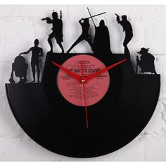Star Wars wedding gift vinyl wall record clock ($32) ❤ liked on Polyvore featuring home, home decor, clocks, wall clocks, vinyl clock, wall mount clock, vinyl wall clock and interior wall decor