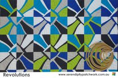 Revolutions Modern Quilting project and nested circle templates.  See my blog for great giveaways. http://serendipitypatchwork.com.au/blog/2012/12/17/quilting-revolutions-giveaway/