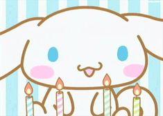gif dog cute anime kawaii puppy birthday cake sweet sanrio san-x ...