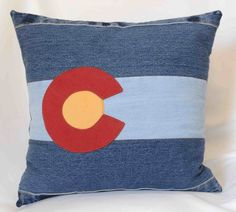 Hey, I found this really awesome Etsy listing at https://www.etsy.com/listing/274110656/repurposed-denim-colorado-flag-pillow