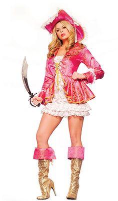 Pink Pirate Girl Sexy Women's Costume Adult Halloween « Holiday Adds Hello Kitty Halloween Costume, Pirate Halloween Costumes, Female Pirate Costume, Pregnant Halloween, Halloween Looks, Adult Halloween, Adult Costumes, Costumes For Women, Gypsy Costume