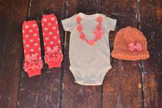 NB to 5T Necklace & Bow Onesie, Hat or headband, and Leg Warmers   http://www.etsy.com/listing/124686760/nb-to-5t-necklace-bow-onesie-hat-or?ref=sr_gallery_3=sr_583fefef82fd35bf2b1ab55755a2d47e0501d1ea1a0ff81b7a3045adbd9f7a3e_1370493257_14322342_onesie_search_query=baby+girl+onesie_view_type=gallery_ship_to=US_page=11_search_type=all