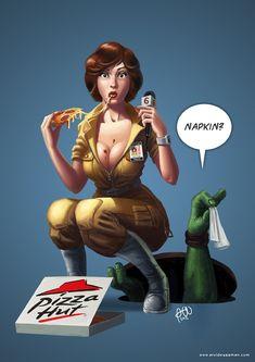 April O'neil Pizza Time by tricketitrick on deviantART