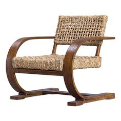 Remedy Chair A modern bohemian accent, featuring a natural woven banana fiber seat on a curved solid wood frame giving flexible movement, layered in a teak veneer with a smooth weathered pecan stain. Seat height is Dimensions: 30 W X 30 H X 31 D Family Office, Family Room, Curved Wood, Solid Wood, Accent Chair Set, Accent Tables, Natural Weave, Modern Bohemian, Living Room Chairs